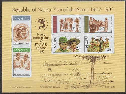 [NA0249] Nauru: Sc. no. 249a (1982) MNH Miniature sheet