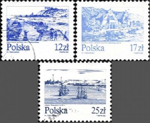 [PO2610] Poland: Sc. no. 2461 2463 2466 (1982) Cancelled Complete Set