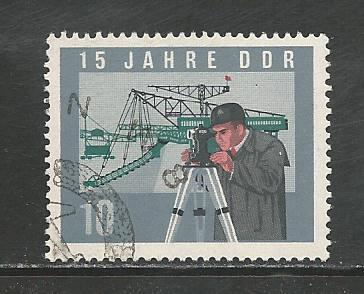 German DDR Used Scott #726 Catalog Value $.30