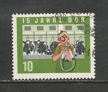 German DDR Used Scott #729 Catalog Value $.30