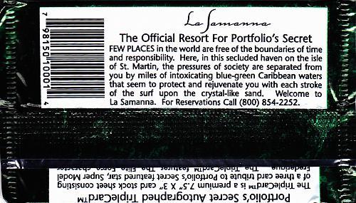 PortFolio's Secret 1994 Swimsuit Cards Factory Sealed Pack