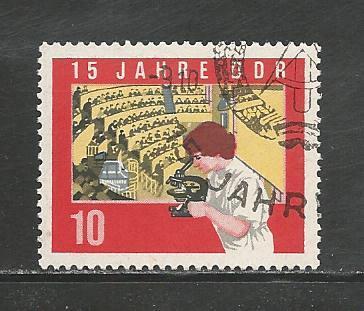 German DDR Used Scott #731 Catalog Value $.30