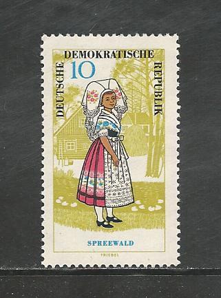 German DDR Hinged Scott #742 Catalog Value $1.45