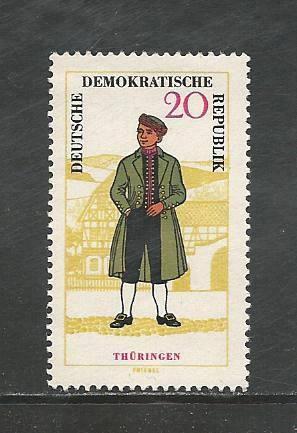 German DDR Hinged Scott #743 Catalog Value $1.45