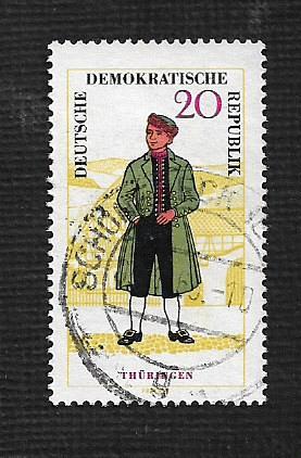 German DDR Used Scott #743 Catalog Value $.90