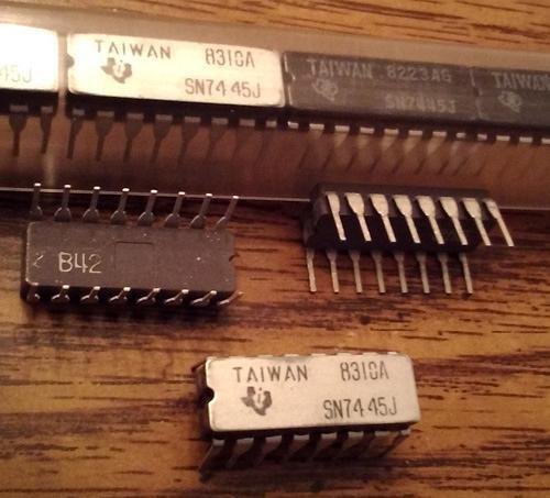 Lot of 14: Texas Instruments SN7445J