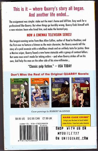 Quarry by Max Allan Collins (Hard Case) 2015 Paperback Book - Very Good