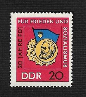German DDR Hinged NG Scott #820 Catalog Value $.40