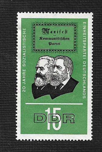 German DDR HMN Scott #827 Catalog Value $.25