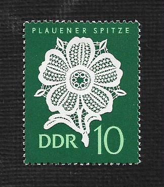 German DDR Hinged Scott #837 atalog Value $.25