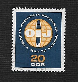 German DDR Used Scott #858 Catalog Value $.25