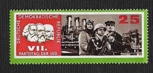 German DDR Hinged Scott #907 atalog Value $.25