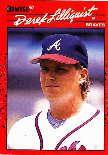 Derek Lilliquist #286 - Braves 1990 Donruss Baseball Trading Card