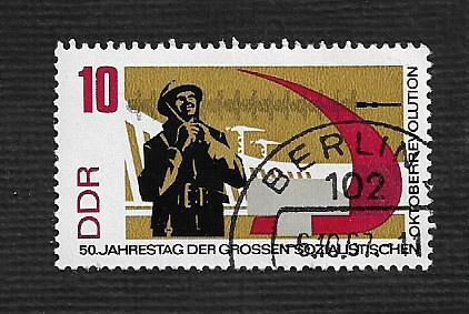 Germany DDR Used Scott #956 Catalog Value $.25