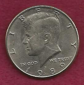 US 50 Cents (Kennedy Half Dollar) 1989 D
