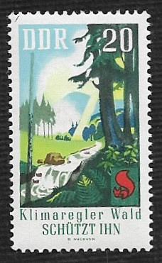 German DDR Hinged Scott #1103 Catalog Value $.25