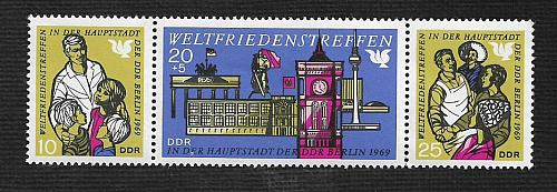 German DDR Hinged Scott #1118a Catalog Value $2.95