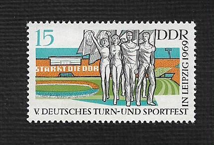 German DDR Hinged Scott #1120 Catalog Value $.25