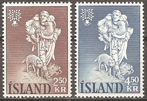 [IC0325] Iceland: Sc. No. 325-326 (1960) MNH Full Set