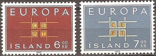 [IC0357] Iceland: Sc. No. 357-358 (1963) MNH Full Set