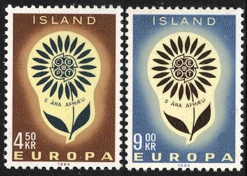 [IC0367] Iceland: Sc. No. 367-368 (1964) MNH Full Set