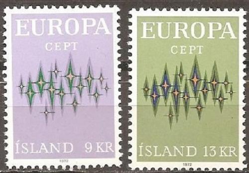 [IC0439] Iceland: Sc. No. 439-440 (1972) MNH Full Set