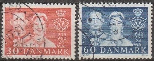 [DE0374] Denmark: Sc. no. 374-375 (1960) Used Full Set