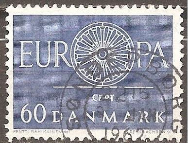 [DE0379] Denmark: Sc. no. 379 (1960) Used Single