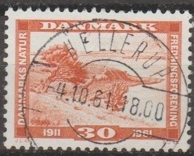 [DE0381] Denmark: Sc. no. 381 (1961) Used Single