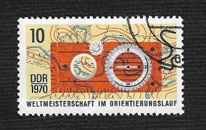 Germany DDR Used Scott #1232 Catalog Value $.25