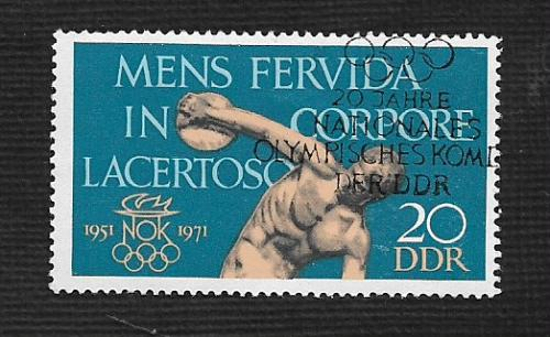 Germany DDR Used Scott #1286 Catalog Value $.25