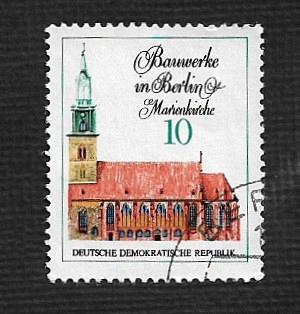 Germany DDR Used Scott #1287 Catalog Value $.25