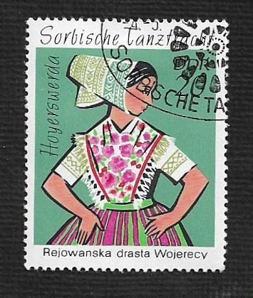 Germany DDR Used Scott #1295 Catalog Value $.25