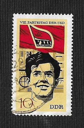 Germany DDR Used Scott #1302 Catalog Value $.25