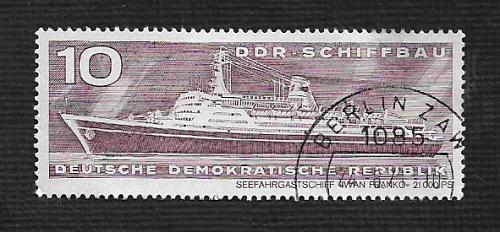 Germany DDR Used Scott #1318 Catalog Value $.25