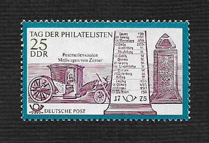 German DDR Hinged Scott #1329 Catalog Value $.30
