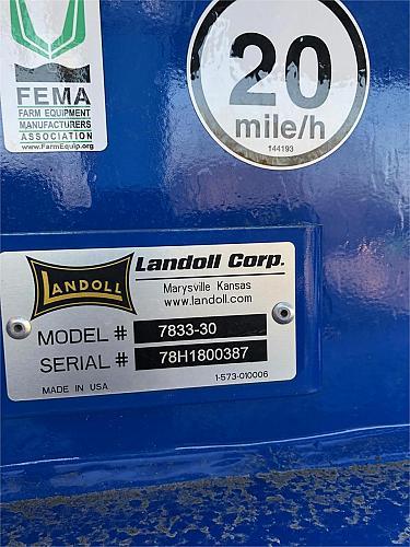 2018 Landoll 7833-30 High Speed Disk