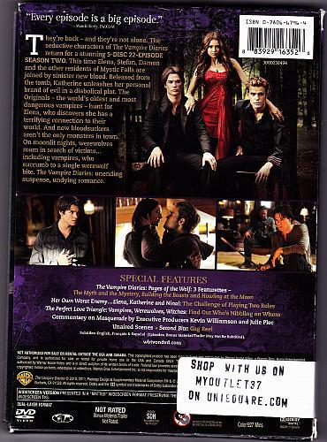 Vampire Diaries - Season 2 DVD 2011, 5-Disc Set - Very Good