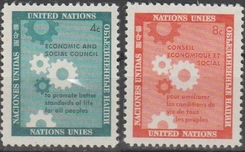 [UN0065] UN NY: Sc. No. 65-66 (1958) MNH Full Set