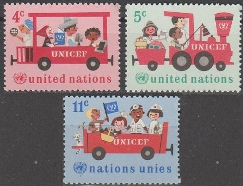 [UN0161] UN NY: Sc. No. 161-163 (1969) MNH Full Set