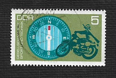 Germany DDR Used Scott #1388 Catalog Value $.25