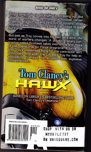Tom Clancy's HAWX by David Michaels 2009 Paperback Book - Good