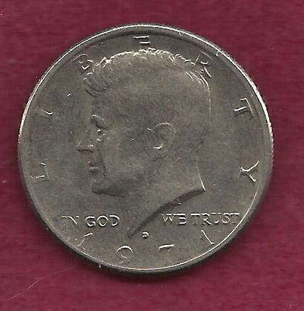 US 50 Cents 1971 D Coin (Kennedy Half Dollar)