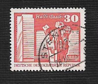 Germany DDR Used Scott #1435 Catalog Value $.25