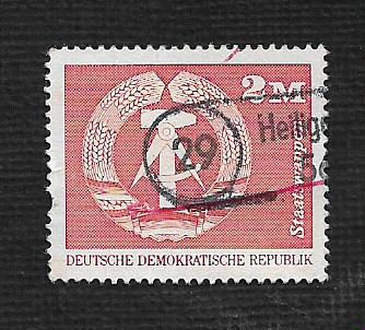 Germany DDR Used Scott #1443 Catalog Value $.25