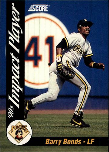 1992 Score Impact Players #55 Barry Bonds - Pittsburgh Pirates