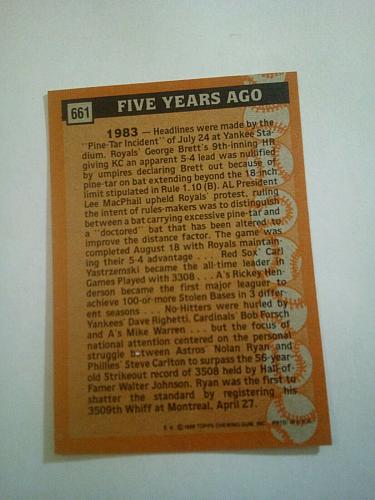 1988 TOPPS NOLAN RYAN #661TURN BACK THE CLOCK SHARP AND FRESH!