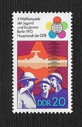 German DDR Hinged Scott #1479 Catalog Value $.25