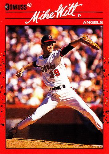 Mike Witt #580 - Angels 1990 Donruss Baseball Trading Card