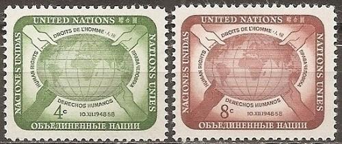 [UN0067] UN NY: Sc. No. 67-68 (1958) MNH Full Set
